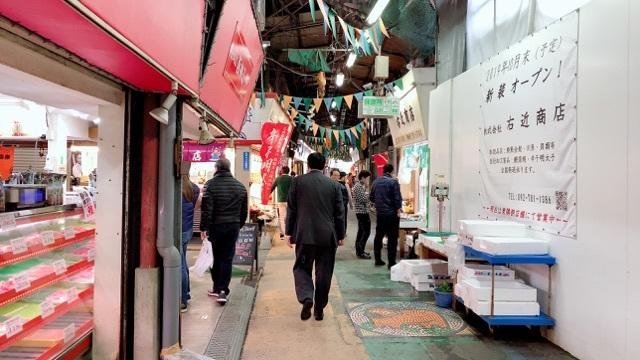 柳橋市場の通り