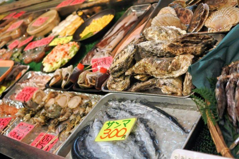 釧路の海産物