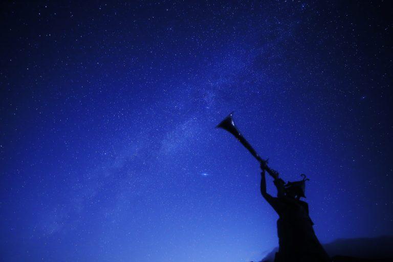 愛妻の丘の星空