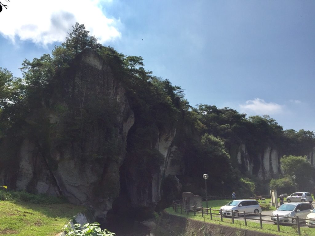 大谷資料館の断崖