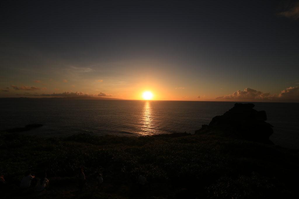 御神崎の夕日
