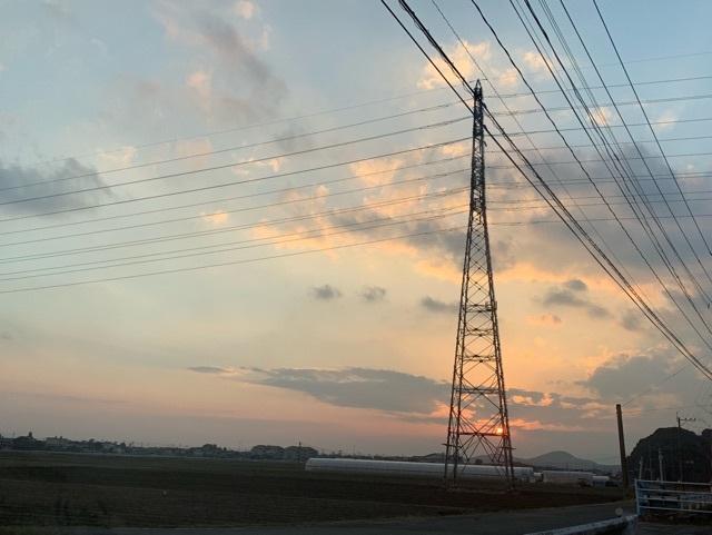 吉井町の夕暮れ