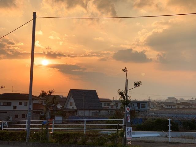 吉井町の夕焼け